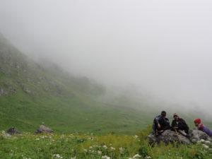 山道4霧の中